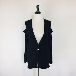 Michael Michael Kors Jacket Size 12 Cold Shoulder